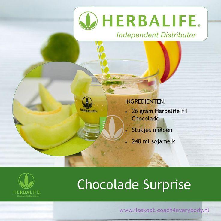 Chocolade Surprise Herbalife shake