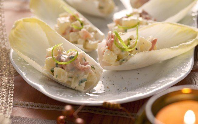 Receita de Barquinhas de endívia com salmão e batata - iG