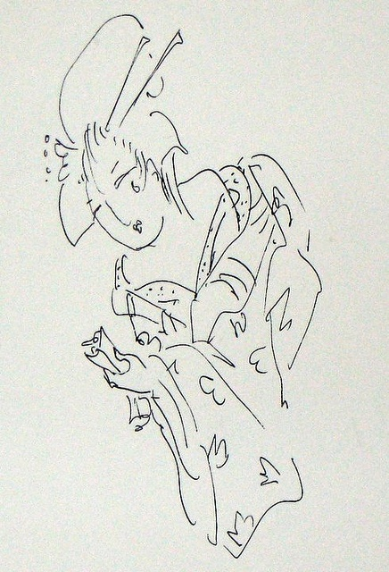 geisha graffiti from the Art Institute of Chicago: Photo
