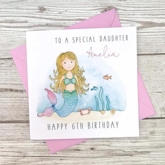 Personalised Birthday Christmas Card Pink Daughter Granddaughter Niece Sister