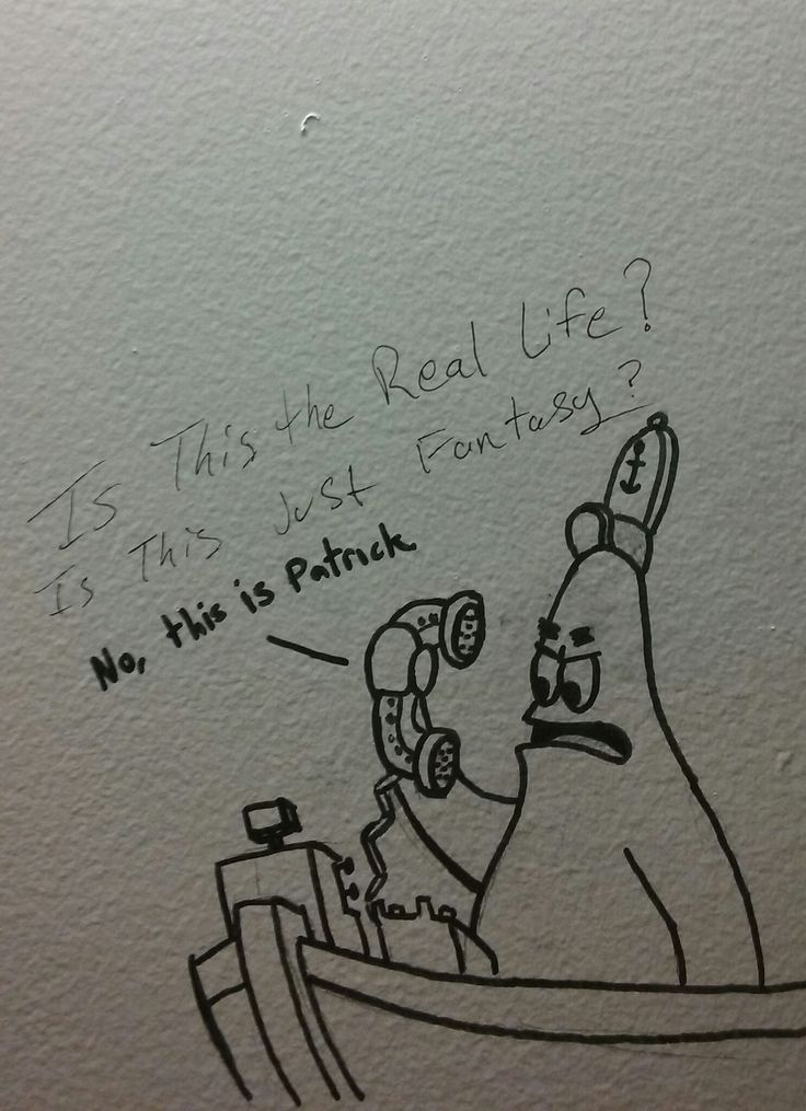 Someone really upped their bathroom graffiti game