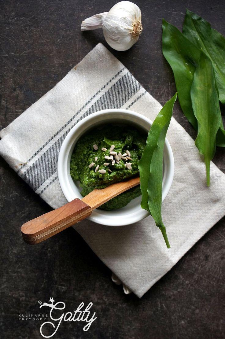 Kulinarne przygody Gatity - przepisy pełne smaku: Pesto z czosnku  niedźwiedziego