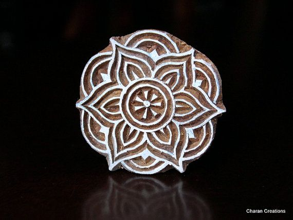 Hand Carved Indian Wood Textile Stamp by charancreations on Etsy, $13.00