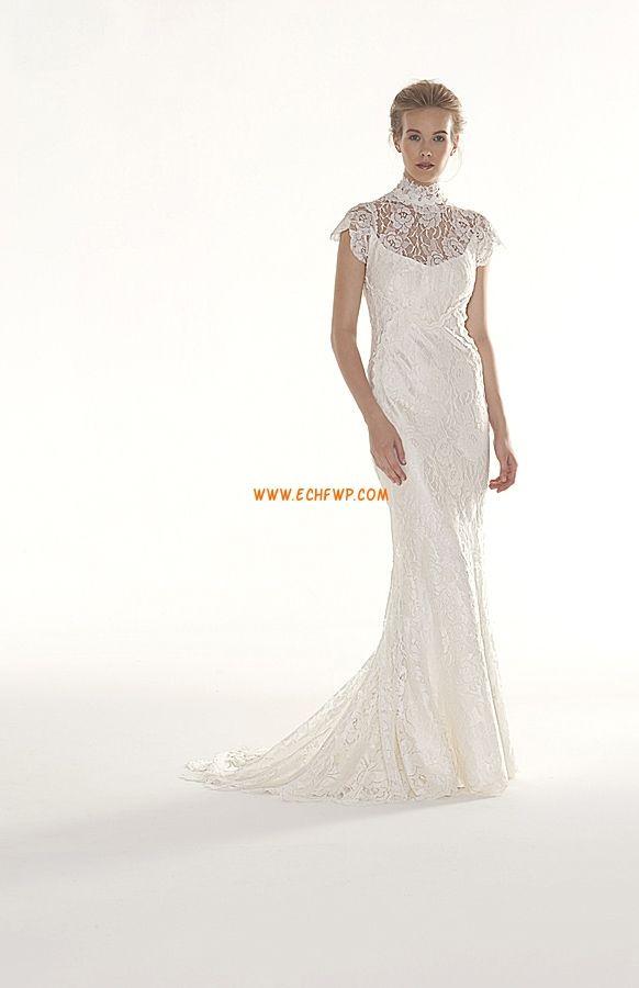 L'automne 2013 Col montant Empire Robes de mariée pas cher