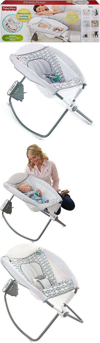 Bouncers and Vibrating Chairs 117034: Fisher-Price Auto Rock N Play Baby Sleeper Rocker Cradle Aqua Stone -> BUY IT NOW ONLY: $62.95 on eBay!