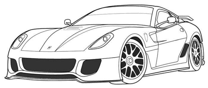Ferrari 599XX Coloring Page | Cars coloring pages, Ferrari ...