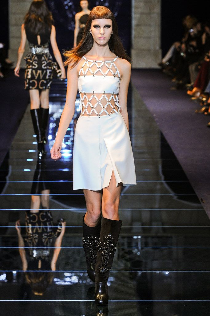 shop chrome hearts Versace Fall 2012 Ready to Wear Collection Photos   Vogue
