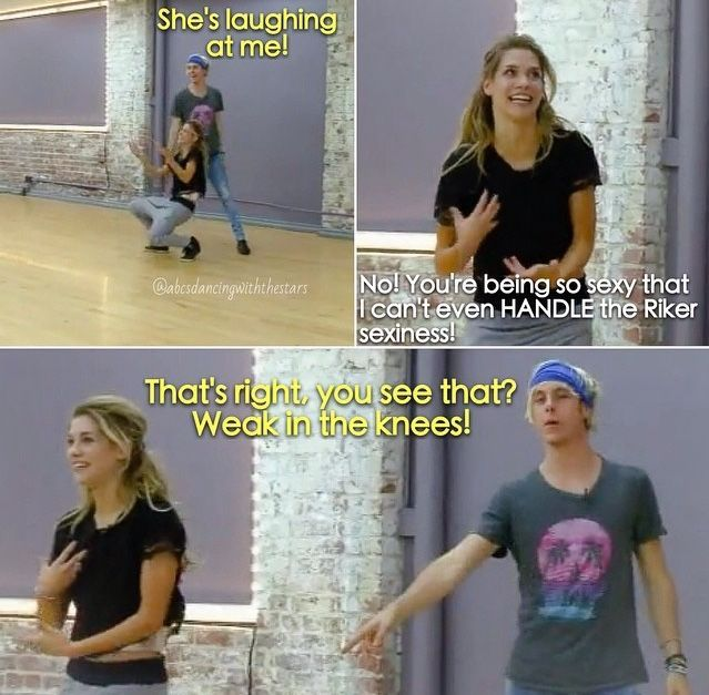 rehearsals for DISNEY week!!!!!!!!!Allison Holker and Riker Lynch
