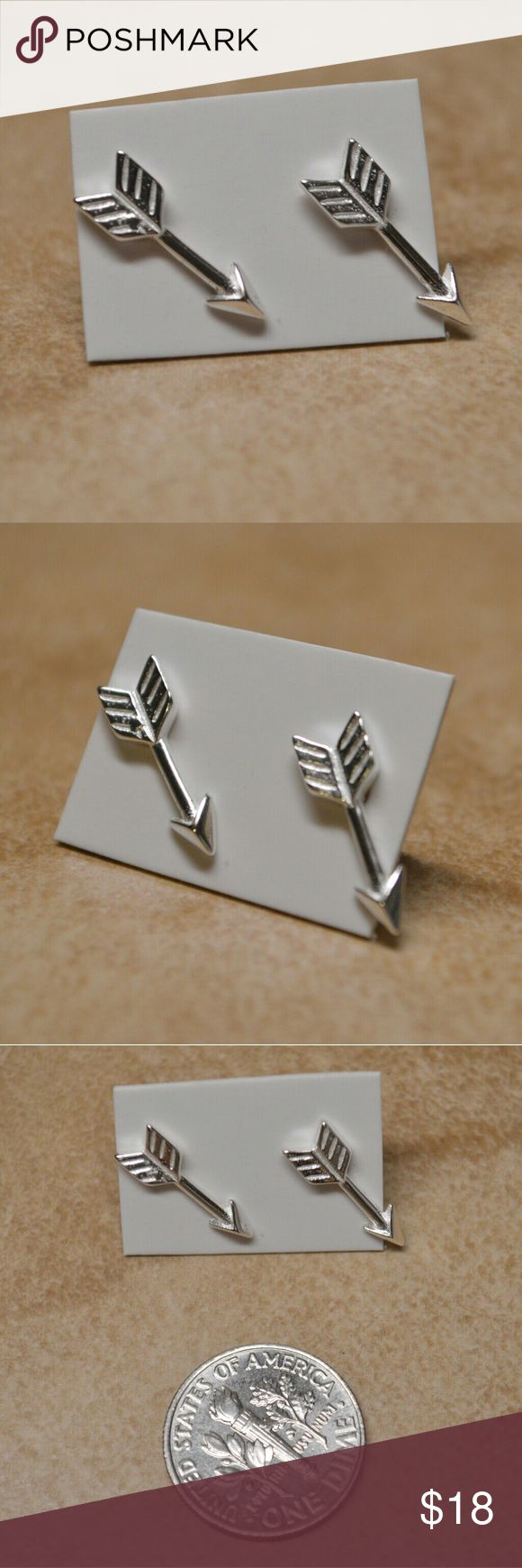 Brand New Sterling Silver Tiny Arrow Earrings Boutique