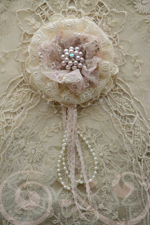 Pink and Ivory Gillyflower~ Just more gorgeous Jennelise pretties~❥
