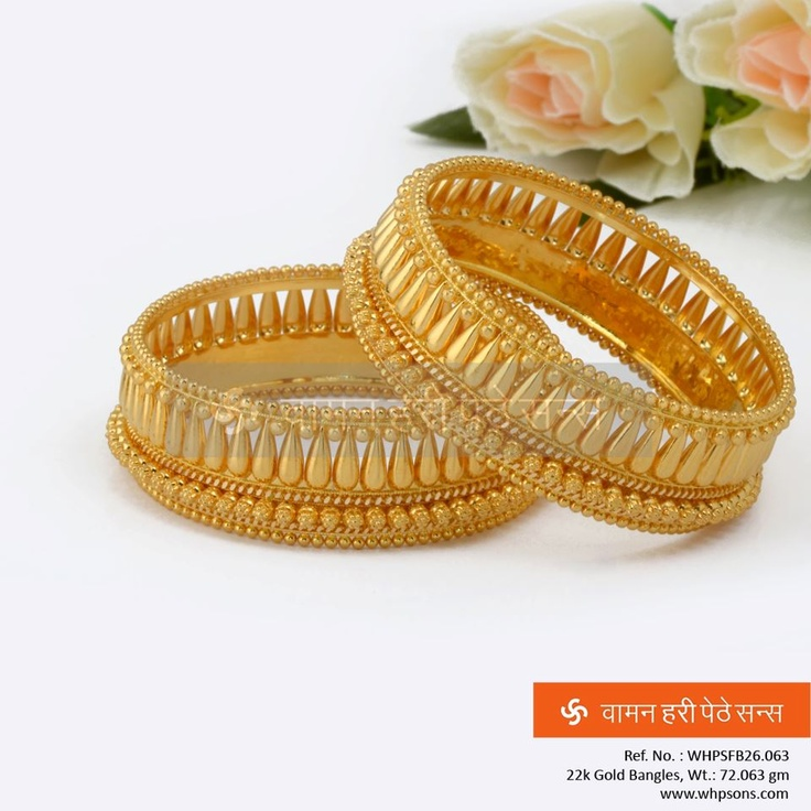 wonderfully crafted gold Bangles