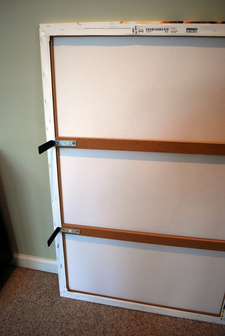 Hiding flat panel TV with large canvas art.  Easy! http://tulipandturnip.blogspot.ca/2011/03/hiding-tv-eyesore.html?m=1
