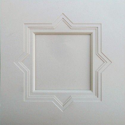 Format Carré : Biseau et cartonnette 4 pointes pour carte carrée