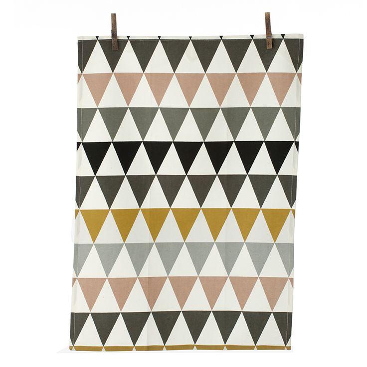 Triangle+Kjøkkenhåndkle+50x70+cm,+Multi,+Ferm+Living