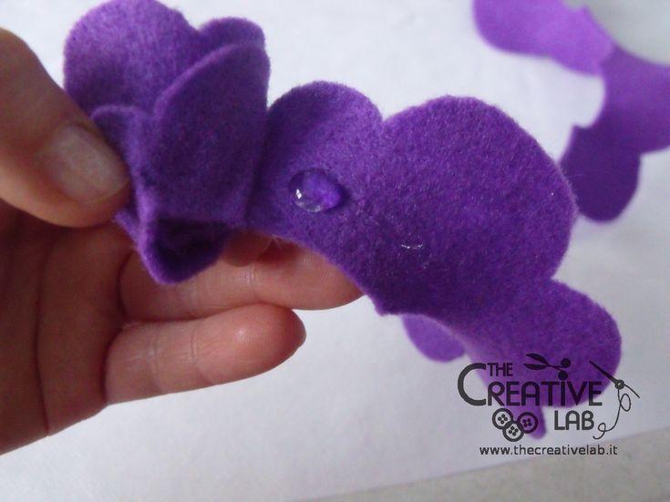 tutorial come fare fiore stoffa feltro 26