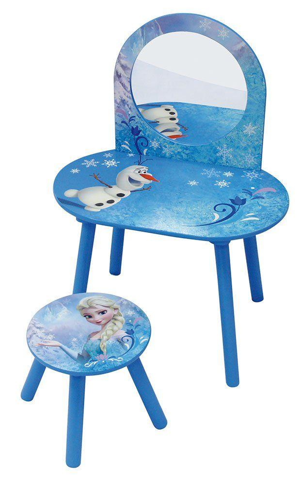 Unbekannt Fun House 712419 Frisiertisch Mit Stuhl Motiv Die Eiskonigin Dieser Susse Schminktisch Im Frozen Design In 2020 Disney Mobel Kindertisch Blaue Kinderzimmer