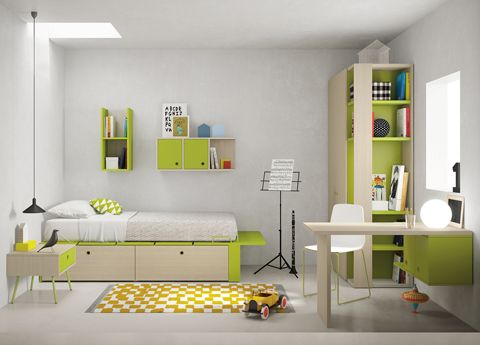 Nidi Bedroom Composition 09  - fab modular designs bringing children's furniture into the 21st century!