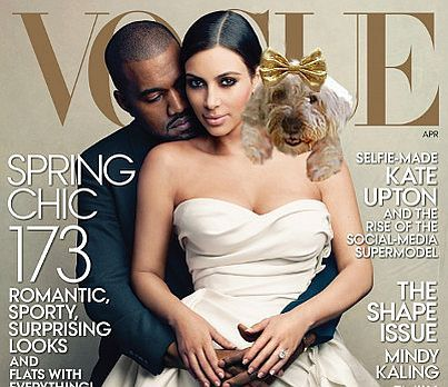 Tali makes the cover of Vogue! (Oh, Kim and Kanye were in the picture too.)
