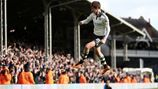 Emerson Hyndman leaps for joy, as do all Fulham Fans, as he scores the winner late in injury time. Fulham 2 Cardiff 1. Happy 20 th Birthday Emerson.