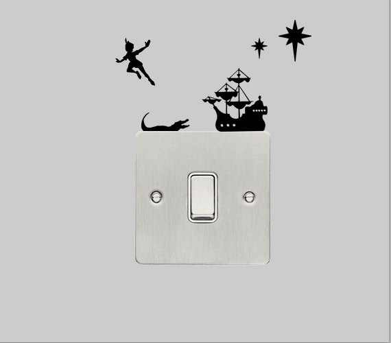 wall decal pan with captain hook s ship 163 3 49 via etsy for me