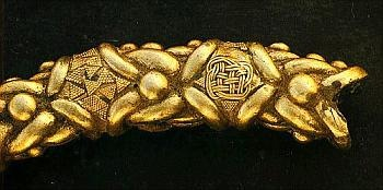 Detail on a Torc found in Castro de Xanceda   Xanceda Celtic Hillfort   Mesía, A Coruña,Galiza, Gallaecia: Ancient Jewellery, Ancient Antique Jewellery, Sharing Thoughts, Age Celts, Xanceda, Ancient Celts, Celtic Torcs, Ancient Celtic
