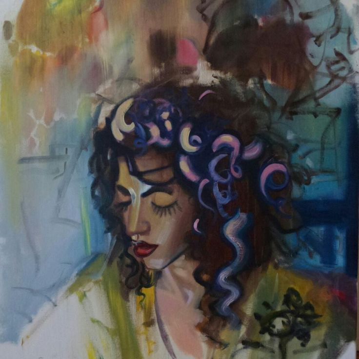 self portrait. art. oil on canvas.