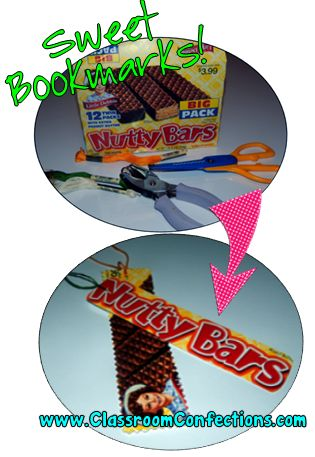 Bookmarks!!...Great for Earth Day.... Re-purpose boxes to make bookmarks!