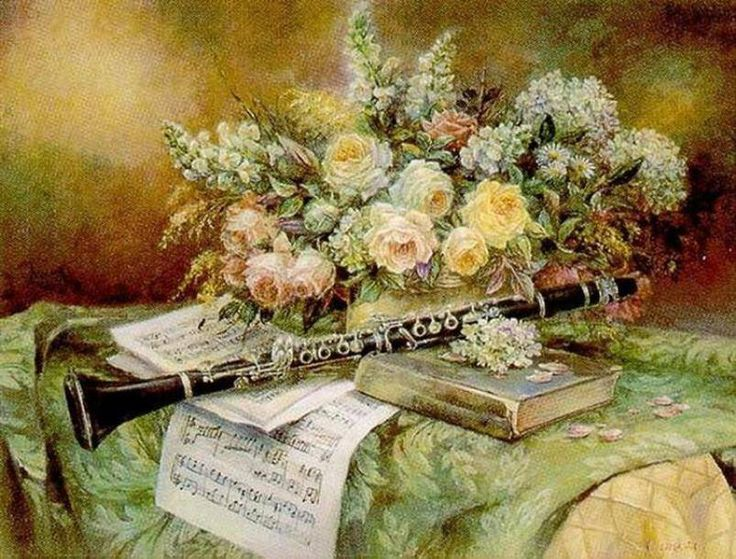 Картинки с флейтой и цветами