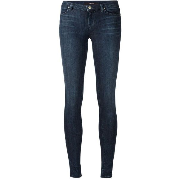 J Brand skinny jeans ($330) ❤ liked on Polyvore featuring jeans, pants, blue, j…