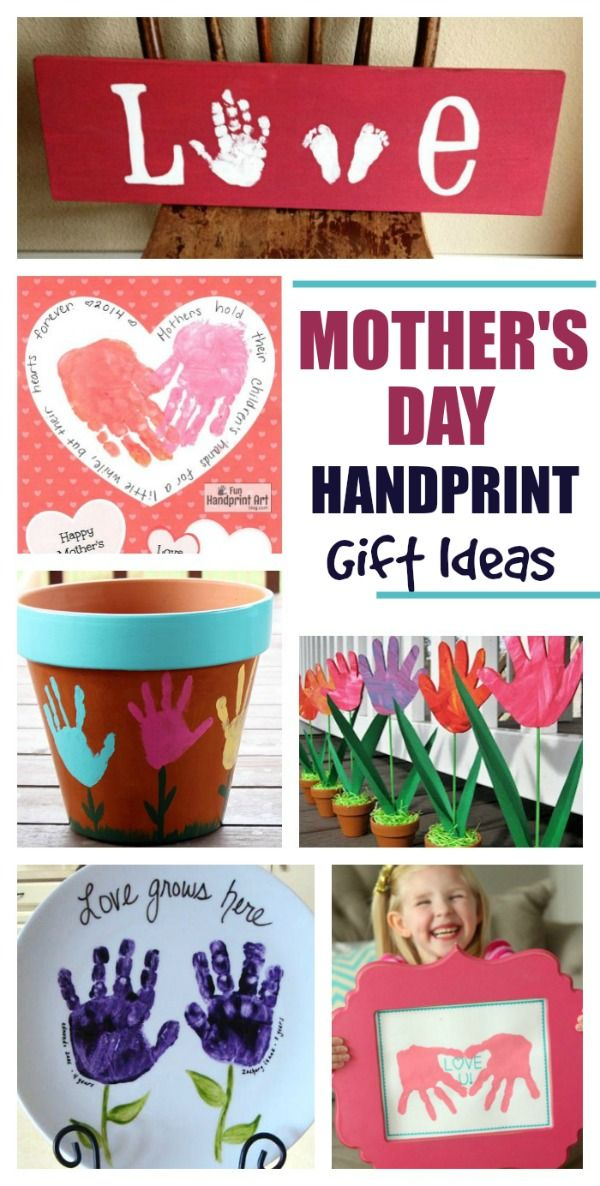 Classroom Ideas For Mothers Day ~ Adorable handprint gift ideas for mother s day
