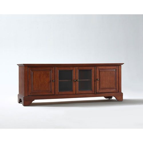 Evelyn 60-Inch Low Profile TV Stand in Classic Cherry Finish