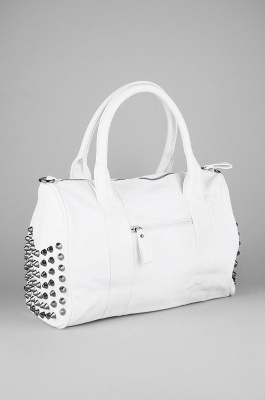 Studded purse / white with gun metal studs would be perfect in black