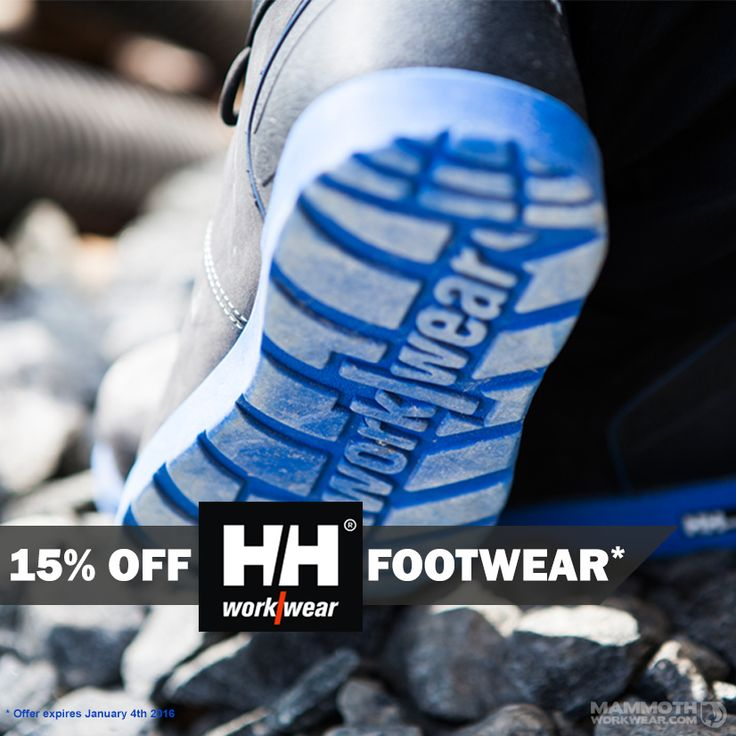 Combine safety and style with our great Helly Hansen footwear offers...