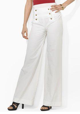 брюки в морском стиле