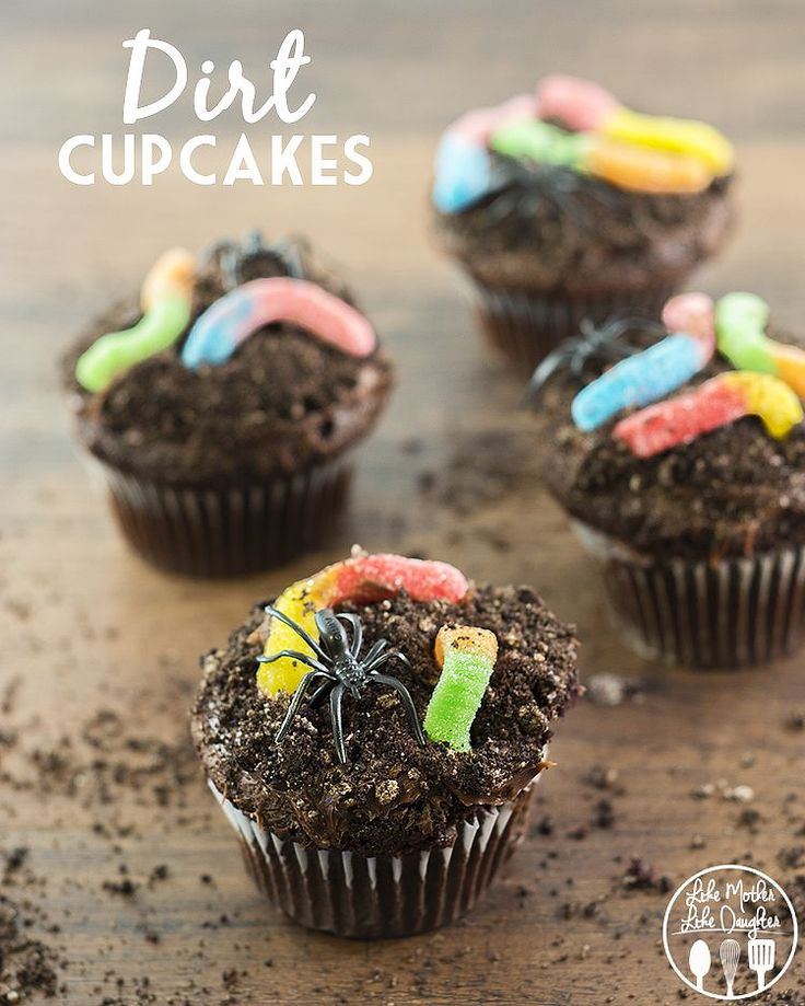 Everyone loves a good OREO dirt cupcake topped with worms and spiders, especially on Halloween!