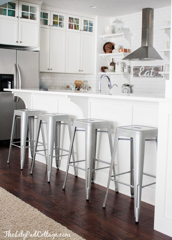 25+ Best Ideas About White Bar Stools On Pinterest | Kitchen