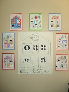 cute activity for The Napping House - count the feet
