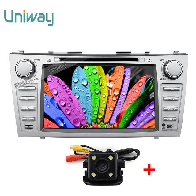 uniway 2G+32G 2 din android 7.1 car dvd for toyota camry 2007 2008 2009 car radio stereo gps navigation with steering wheel