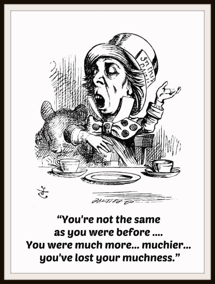 "John Tenniel's Alice in Wonderland Art Print ""Mad Hatter"" Wall Decor, 8 x 10"""