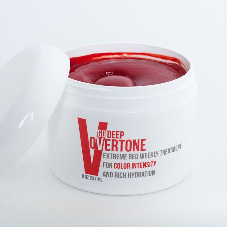 Go Deep! Get Extreme Red hair with oVertone's Extreme Red Go Deep Weekly Treatment and keep your Ariel' hair bright and fade-free!
