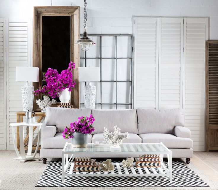 A pop of colour can be a small , short change to a space with a neutral palette. All products available at Block & Chisel.
