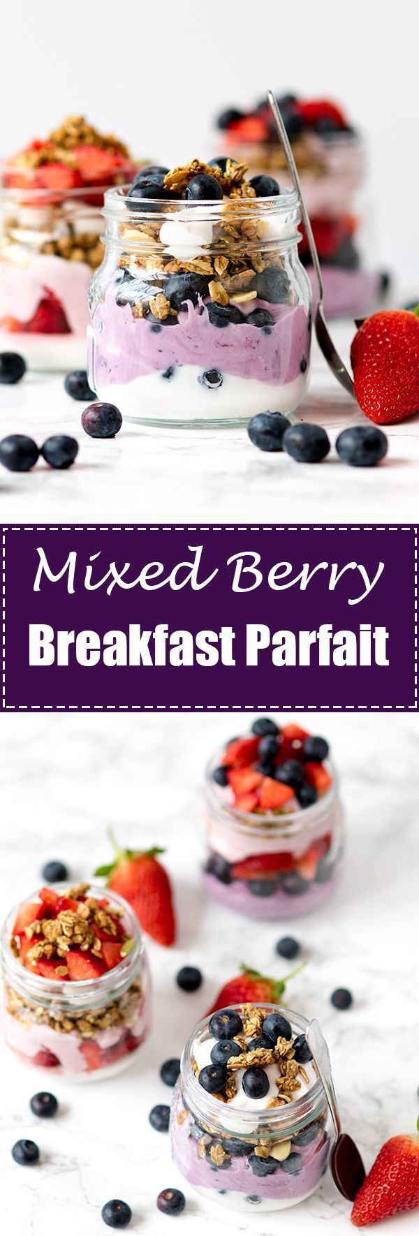 A light and creamy parfait that makes a luxurious breakfast treat!