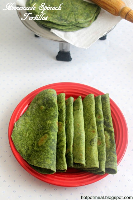 Homemade Spinach Tortillas- so it calls for a quarter cup flour but replace that with a gluten free kind and im there :)