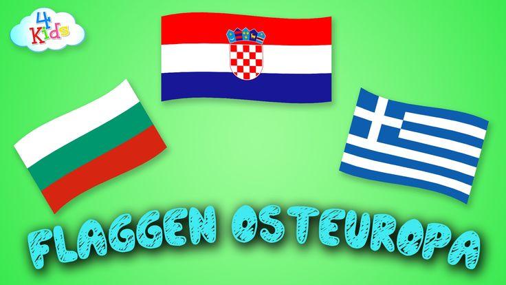 Flaggen und Länder von Europa (Östlich) lernen für Kinder (deutsch)
