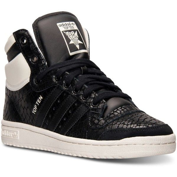 adidas shoes high tops. adidas women\u0027s top ten hi casual sneakers from finish line (£62) ❤ liked shoes high tops