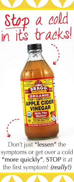 "This NEVER fails! Raw, unfiltered apple cider vinegar with the ""mother"". (Very important!) Drink two tablespoons in a glass of water every 8-12 hours until symptoms are gone!"