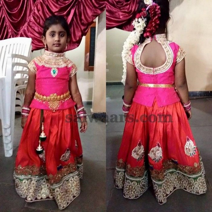 Baby in Pot Neck Blouse - Indian Dresses