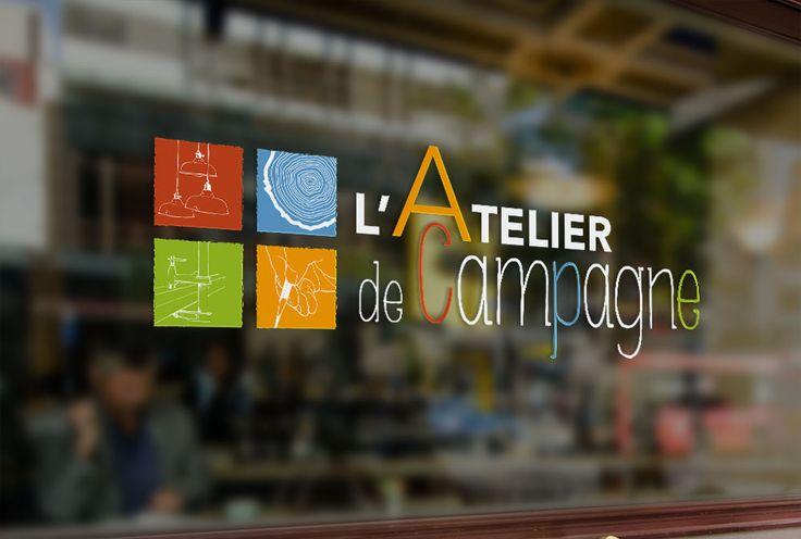 Conception du logo de l'entreprise l'Atelier de Campagne