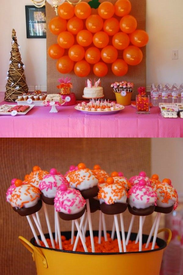 Sweet Shop Birthday Party buffet and oreo pops
