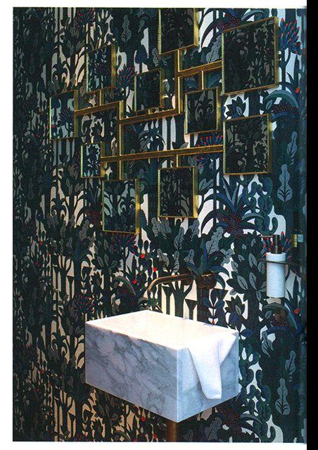 Hermes wallpaper Pierre Marie and Elisabeth Garouste mirrors
